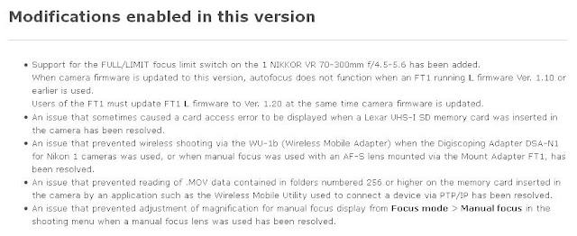 update, firmware, update firmware, mirrorless nikon, nikon 1 j3