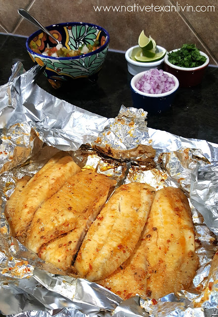Spicy Chipotle Grilled Fish Tacos with LA MORENA®