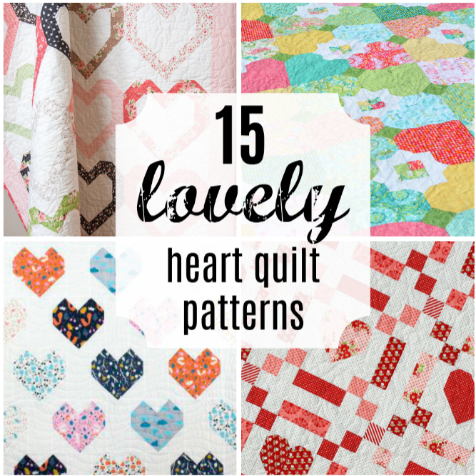 Gigi's Thimble 60 Lovely Heart Quilt Patterns [friday Favorites] Inspiration Heart Quilt Pattern