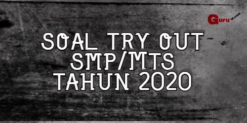 gambar soal try out Ujian Nasional SMP edisi 2019-2020