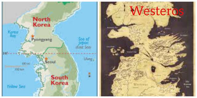 If Korean Peninsula is Westeros (Seven Kingdoms of Game of Thrones)