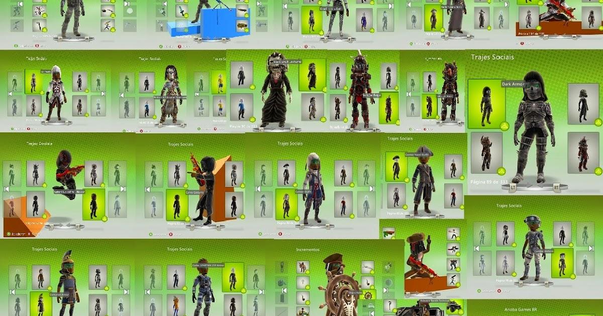 roupas para avatar xbox 360 gratis