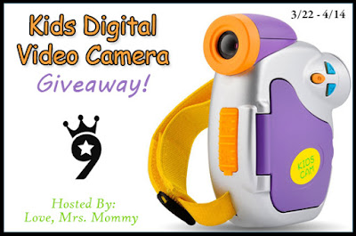 Enter the Kids Powpro Digital Video Camera Giveaway. Ends 4/14