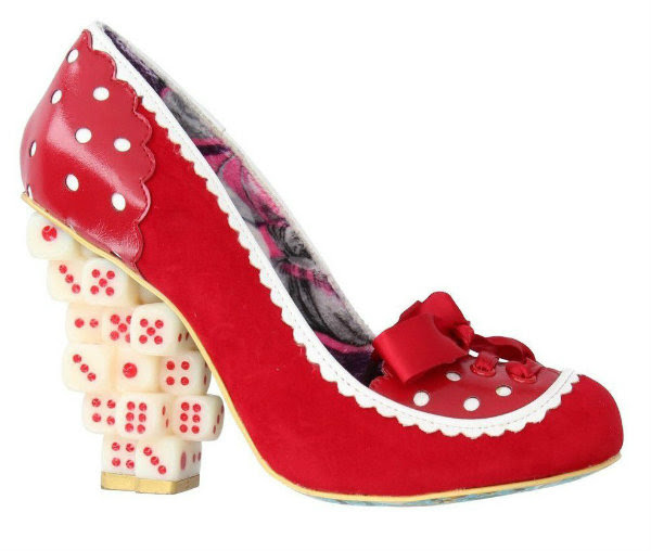 Irregular Choice throw a dice red