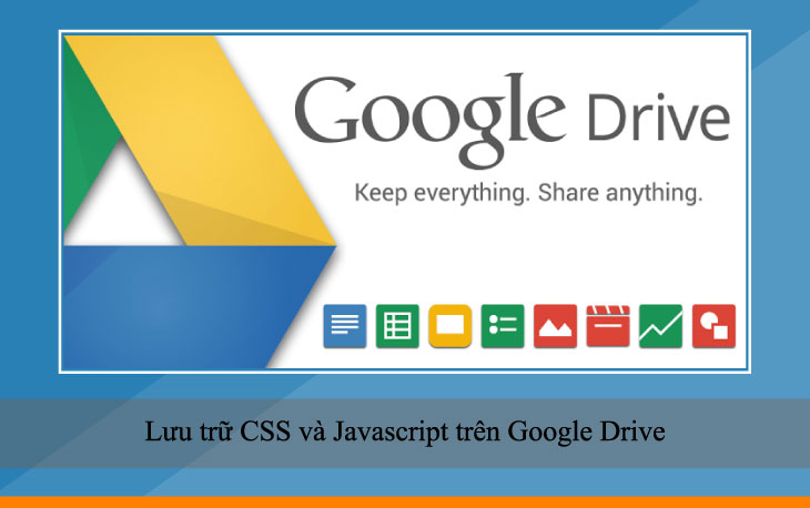 Lưu trữ CSS và Javascript trên Google Drive