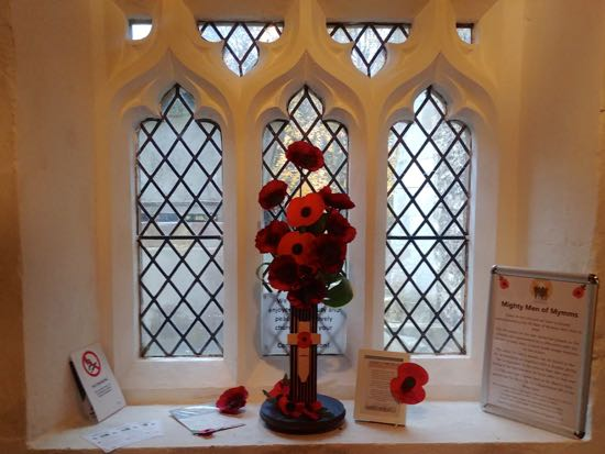 Display in the porch at St Mary's Church, North Mymms Image by the North Mymms History Project, released under Creative Commons