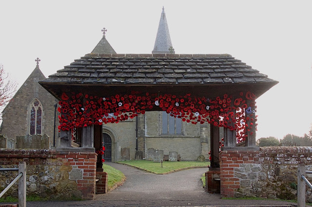 poppies arch church