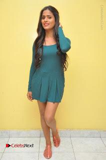 Telugu Actress Prasanthi Stills in Green Short Dress at Swachh Hyderabad Cricket Press Meet  0121.JPG