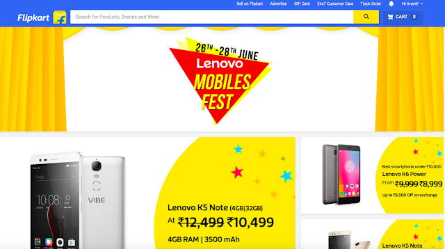 Flipkart's Lenovo Mobile Fest offers discounts on K6 Power, Vibe K5 Plus, Vibe K5 Note and P2