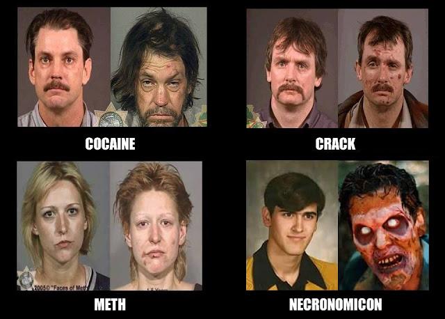 Diga não às drogas e aos livros de macumbeiro