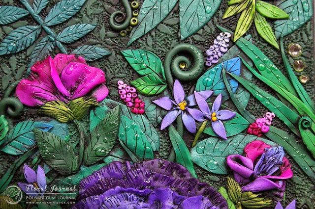 Agenda con flores