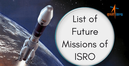List of Future Missions of ISRO