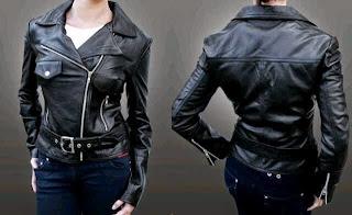 Gambar Jaket Kulit Wanita Ramones