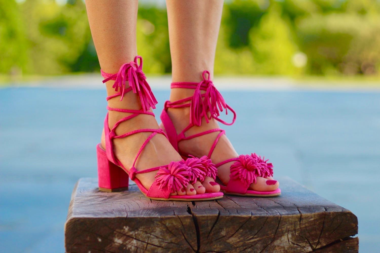 sandalias tipo aquazzura rosas
