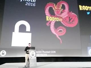RootedCon 2016 - Keynote con el motivo de Bola de Dragón