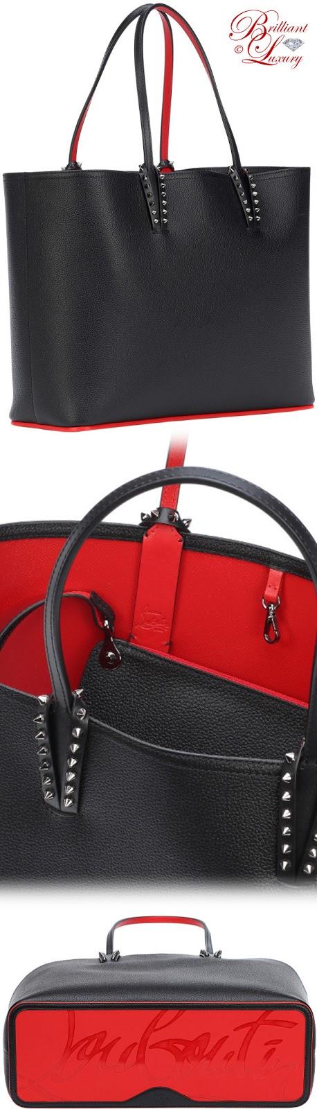 Brilliant Luxury ♦ Christian Louboutin Cabata leather tote in black 2018