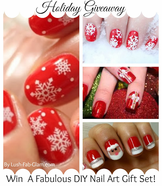 Lush Fab Glam Blogazine: Gorgeous Holiday Nail Art Designs + Win A ...