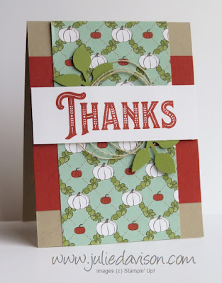 Stampin' Up! Warm Hearted Thanks Card ~ Autumn Fall ~ Thanksgiving ~ Holiday 2018 Catalog  ~ Control Freaks Blog Tour October 2018 ~ www.juliedavison.com