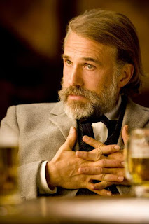 Christoph Waltz in an Oscar winning performance as Dr King Schultz in Django Unchained