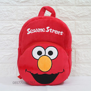 Tas Boneka Anak Lucu Karakter Elmo