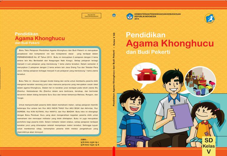Download Gratis Buku Siswa Pendidikan Agama Khonghucu dan Budi Pekerti Kelas 5 SD Kurikulum 2013 Format PDF