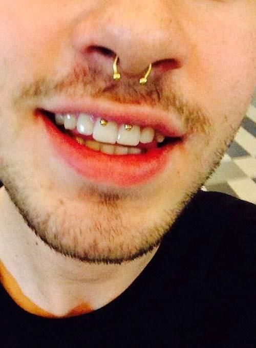 erkek smiley piercing çeşitleri altın