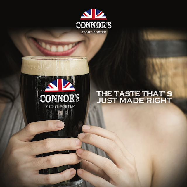 CONNOR'S Stout Porter - The Taste That's Just Made Right