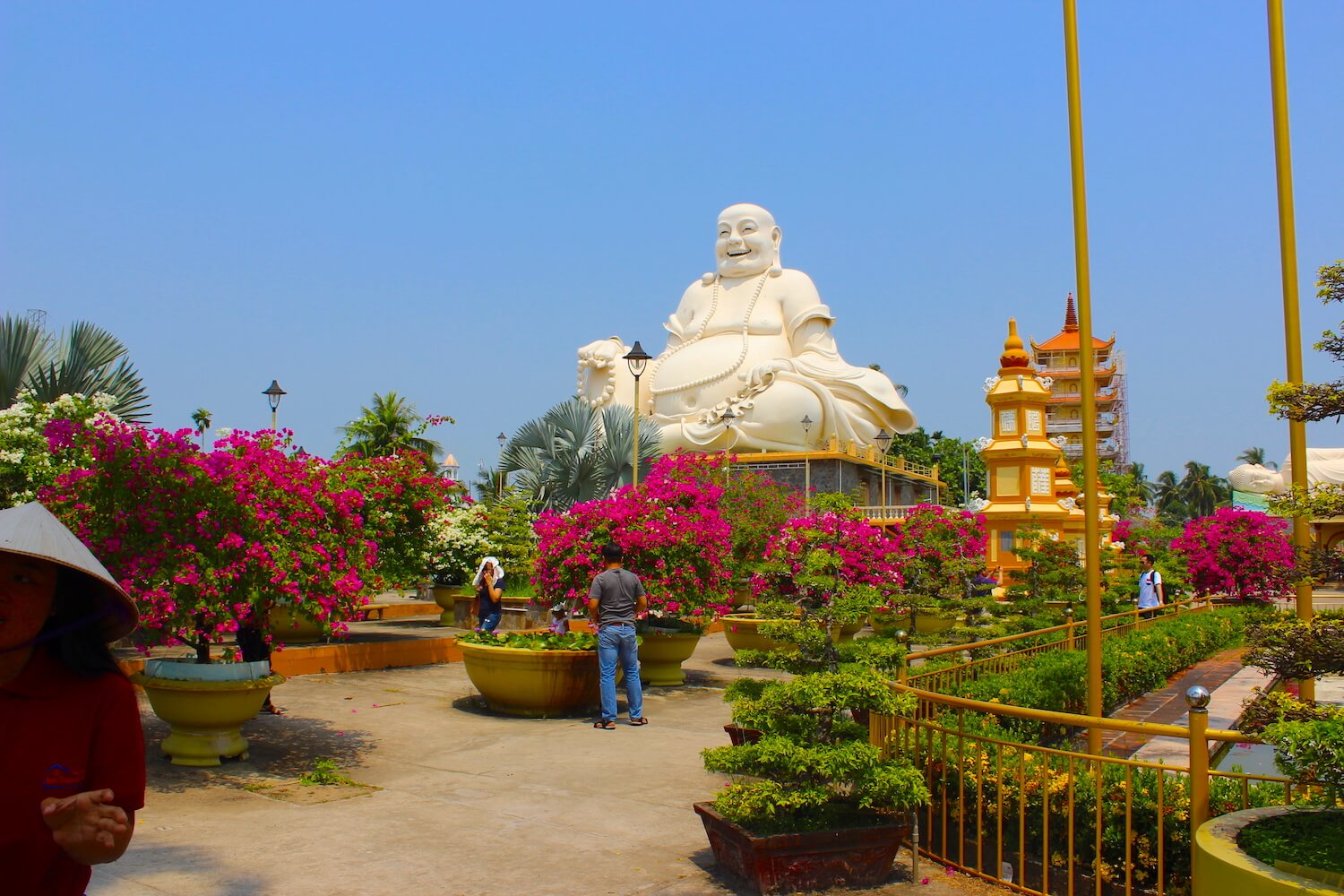 vinh trang temple and pagoda fat laughing buddha