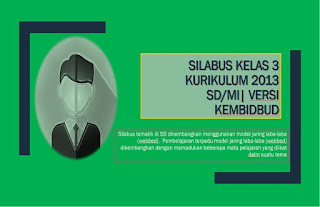 Download Silabus kelas 3 Kurikulum 2013 untuk semester 1 dan 2