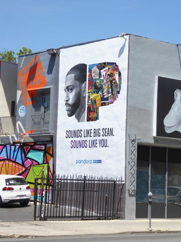 Big Sean Pandora Premium wall mural ad