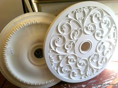 diy painted medallions bronze finish