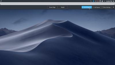 Membuat Tampilan Kali Linux Menjadi Mac OS Mojave - Menambahkan Widget