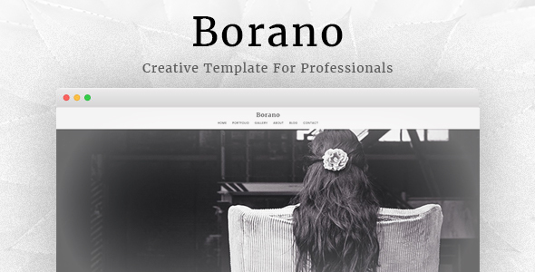Borano Photography Portfolio Template Download Website - Photography portfolio template