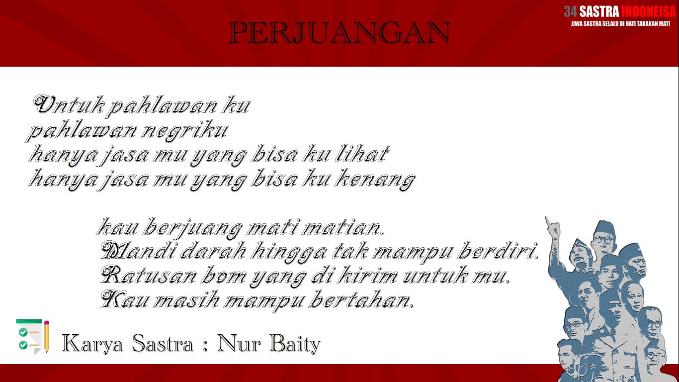 Puisi Untuk Para Pahlawan Perjuangan  Sastra Indonesia