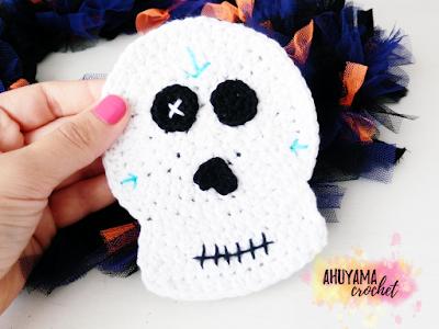 imagen calavera a crochet ahuyama crochet