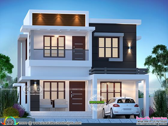 4 bedroom 1775 sq.ft modern home design