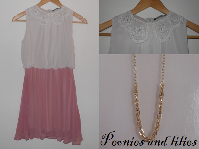Primark haul march 2013, Primark chiffon collar dress, Primark necklace