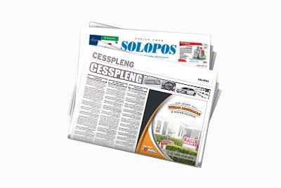 iklan rumah disewakan di koran Solopos