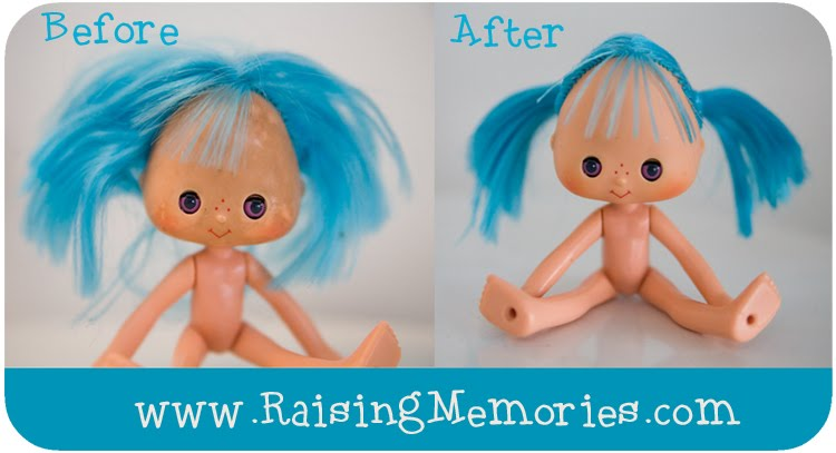 Clean and Restore Old Vintage Strawberry Shortcake Dolls Face and Hair