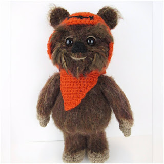 patron amigurumi Ewok de Star Wars holly's hobbies