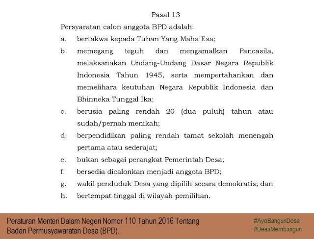 Syarat Menjadi Anggota BPD Peraturan Terbaru