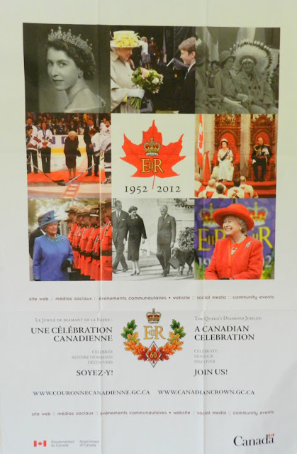 the poster has photos to show the Queen with different duties