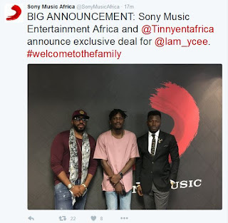 Ycee hits Exclusive Deal with Sony Music Entertainment