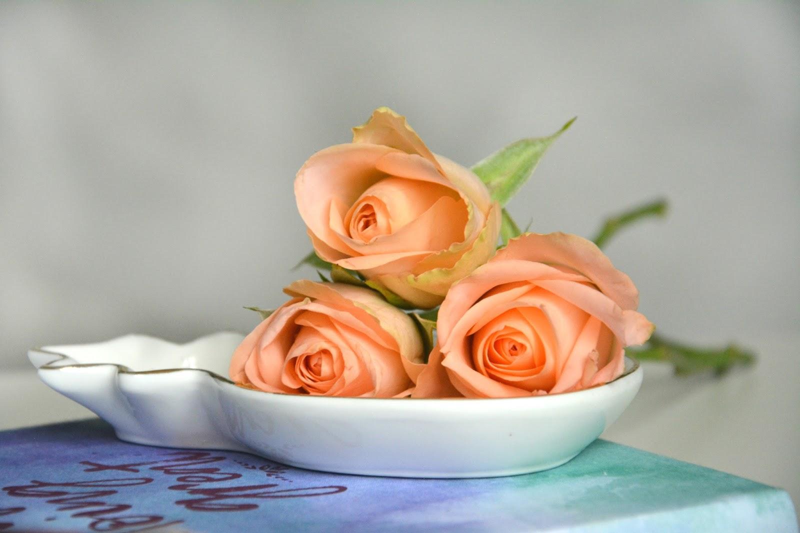 Fresh Roses; Primark Pineapple Dish; Hema Notebook