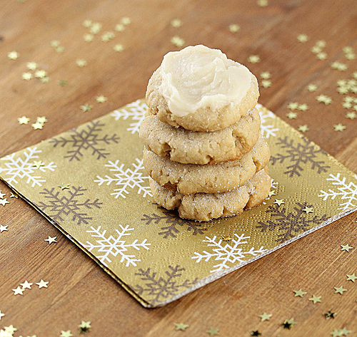 Soft Ginger Cookies with Brown Butter Frosting | sweetpeasandsaffron.com