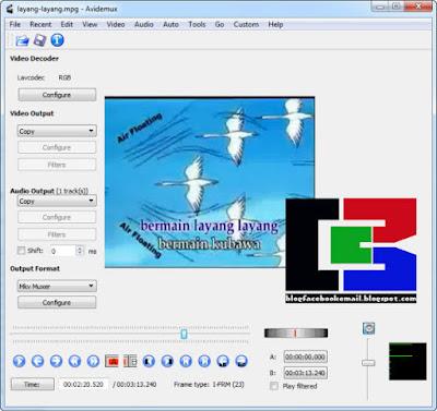 Avidemux ialah kegiatan edit video open source cross platform yang bisa di gunakan di ber Download Avidemux, Aplikasi Terbaik Untuk Memotong Video dengan mudah/cepat