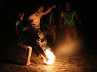 Sepak bola api meriahkan hari santri Kota Semarang