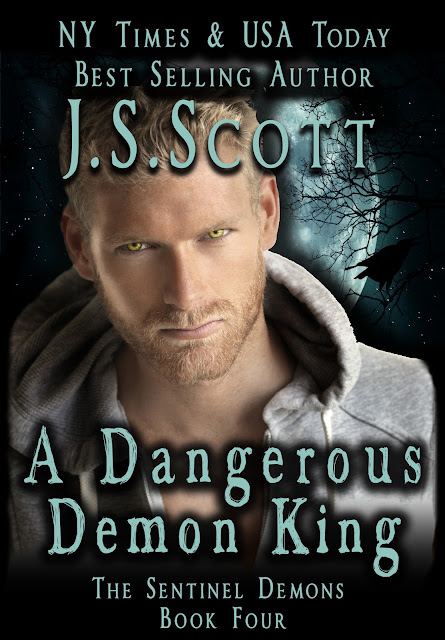 Book Cover, A Dangerous Demon King, by J. S. Scott
