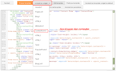 cara membuat contact us di blog