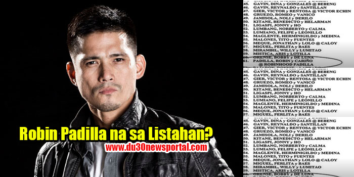LOOK: Robin Padilla In The List! Find Out..